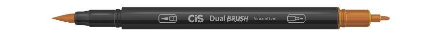 Marcador Dual Brush Aquarelavel 31 Marrom Cl - Cis