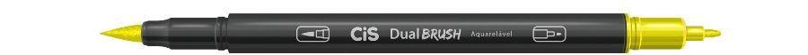 Marcador Dual Brush Aquarelavel 25 Verde Limao-cis