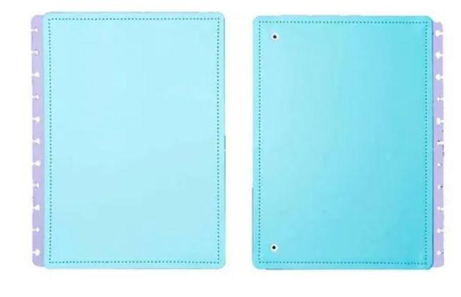 Capa E Contracapa Grande Azul Celeste - Caderno In