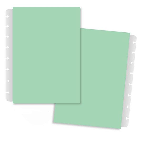 Capa E Contracapa Grande Pastel Verde-caderno Inte