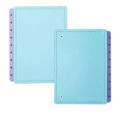 Capa E Contracapa Medio Azul Celeste-caderno Intel