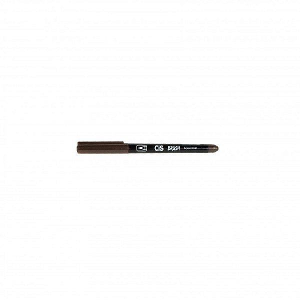 Marcador Brush Aquarelavel 10 Marrom Escuro - Cis