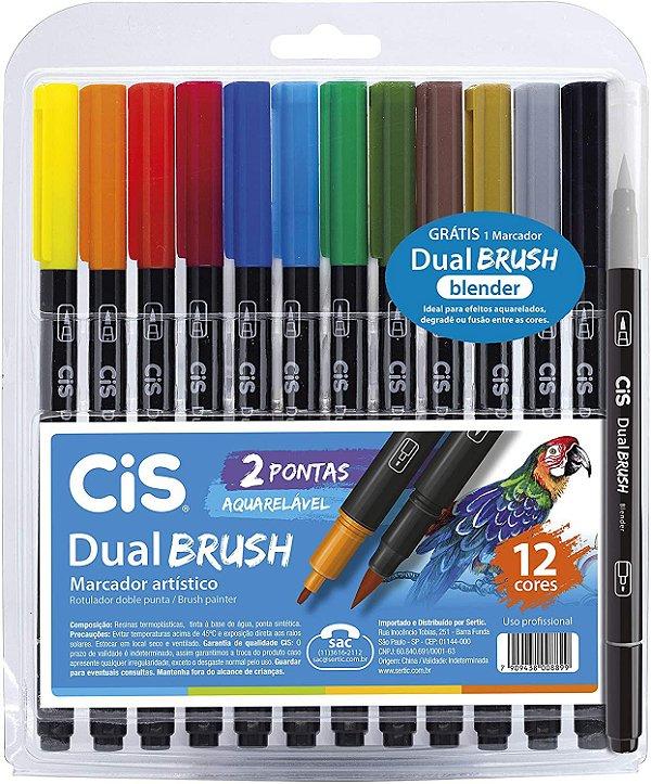 Estojo C/12 Marcador Dual Brush Aquarelavel - Cis