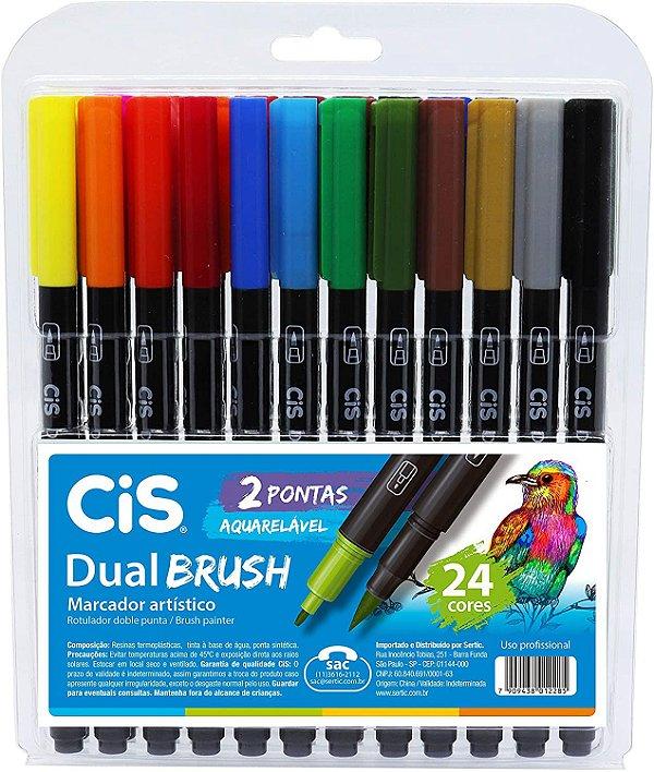 Estojo C/24 Marcador Dual Brush Aquarelavel - Cis