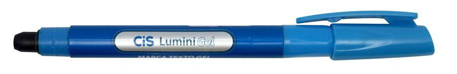 Caneta Marca Texto Lumini Gel Neon Azul - Cis
