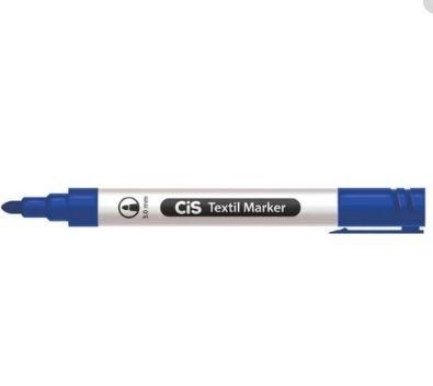 Marcador Textil 3,0mm Marker Azul - Cis