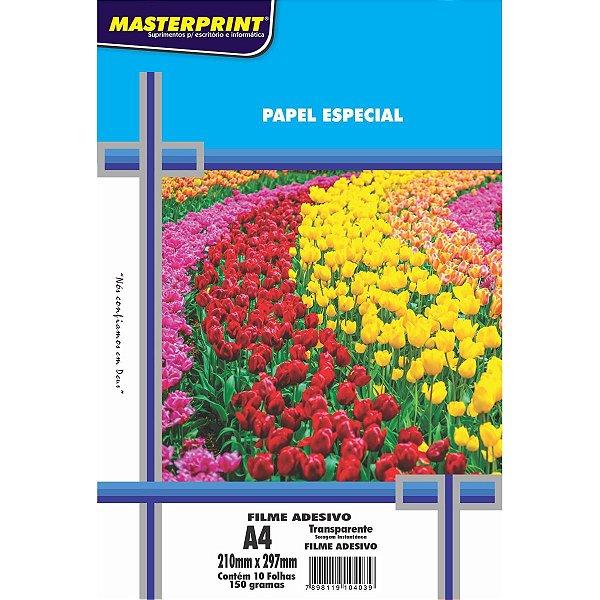 Filme Adesivo A4 150g Transparente - Masterprint