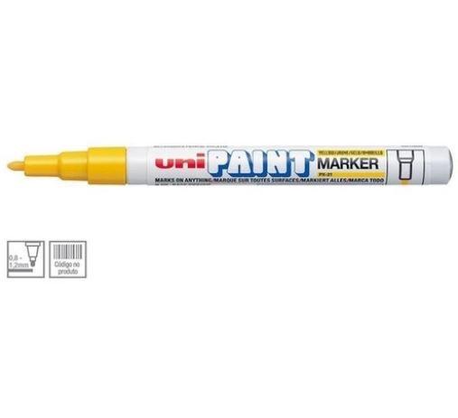 Marcador Permanente 1.2mm Paint Amarelo - Uni Ball