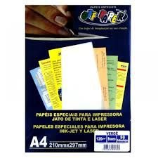 Papel Verge A4 120g 50f Branco - Offpaper