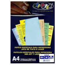 Papel Verge A4 Azul 180g C/50 Fls - Off Paper