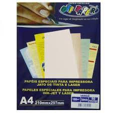 Papel Verge A4 Salmao 180g C/50 Fls - Off Paper