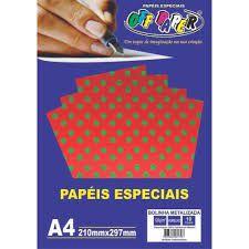Papel A4 120g 10f Metalizado Poa Vm - Offpaper