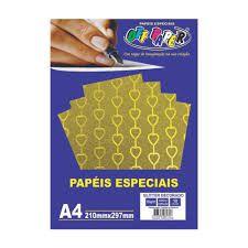 Papel A4 150g 10fls Glitter Dec Ouro Cor-off Paper