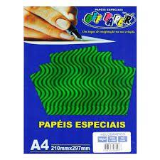 Papel A4 120g 10f Holografico Verde - Off Paper