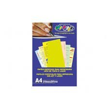 Papel A4 120g 20fls Plus Amarelo - Office Paper