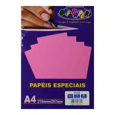 Papel A4 120g 20fls Plus Pink Lumi - Off Paper