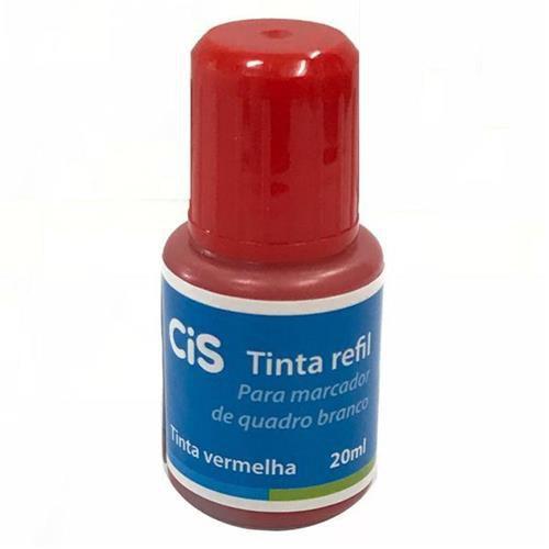 Tinta Marcador Quadro Branco 20ml Vermelho - Cis