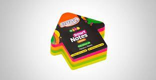 Bloco Anotacao 70x70mm C/200 Seta Neon Color - Brw