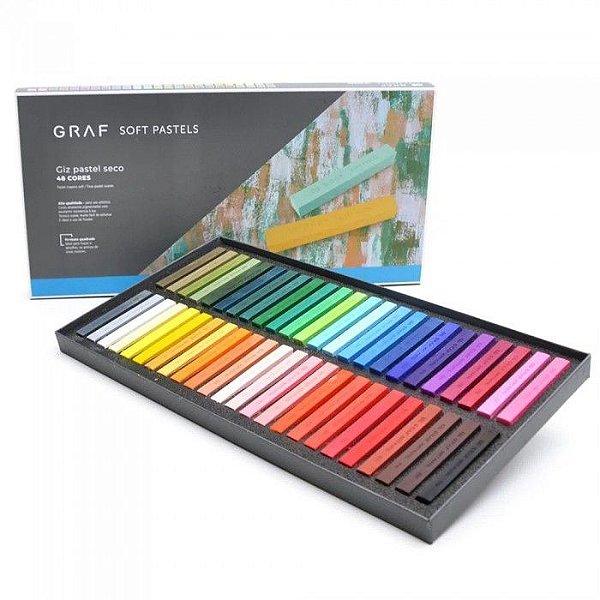 Estojo C/48 Giz Graf Pastels Seco Sortido - Cis