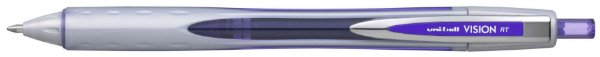 Caneta Retratil 0,8mm Vision Rt Violeta - Uni Ball
