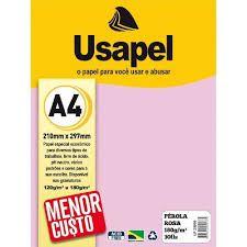 Papel Perola A4 180g/m2 30f Rosa - Usapel