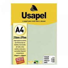 Papel Verge A4 180g/m2 50f Verde - Usapel