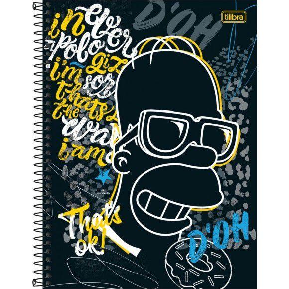 Caderno Esp Cd 1/4 80f Simpsons - Tilibra