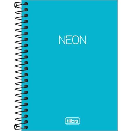 Caderneta Esp Cp 1/8 80f Neon Azul - Tilibra