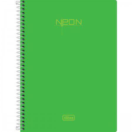 Caderneta Esp Cp 1/8 80f Neon Verde - Tilibra