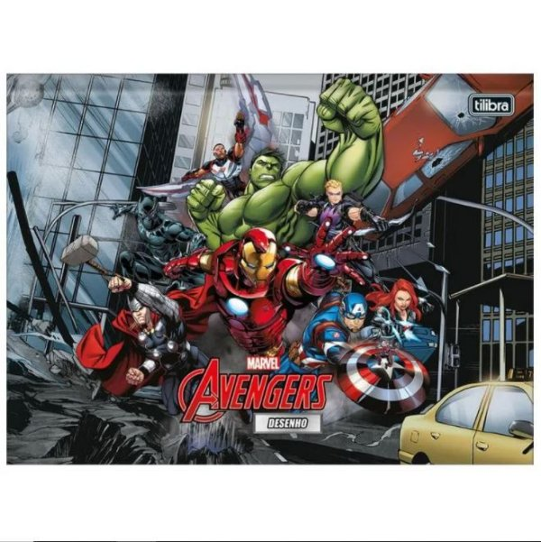 Caderno Broc Cd Cartografia 80f Avengers - Tilibra