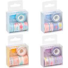 Fita Adesiva C/5 Washi Tape Mini Dispenser - Brw
