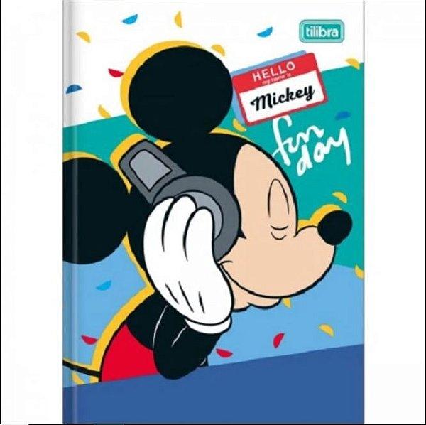 Caderno Broc Cd 1/4 96f Mickey Mouse - Tilibra