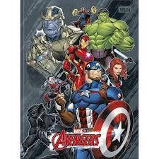 Caderno Broc Cd 1m 80f Avengers Asb - Tilibra