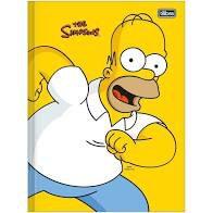 Caderno Broc Cd 1m 80f Simpsons - Tilibra
