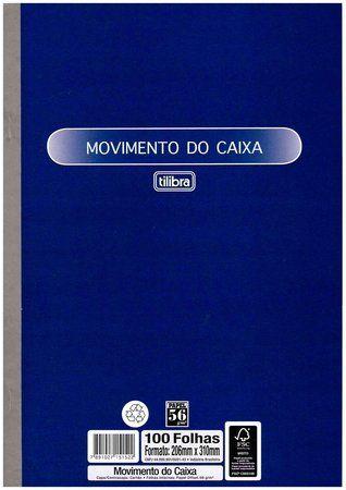 Livro Movimento Caixa 100f Grande - Tilibra