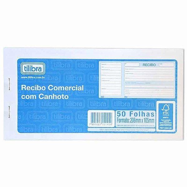 Bloco Recibo Comercial C/canhoto - Tilibra