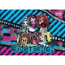 Caderno Broc Cd Desenho Monster Hi 40fls - Tilibra