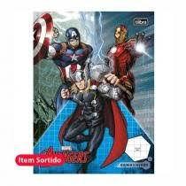 Caderno Broc Cd 40f Quadriculado Avengers-tilibra