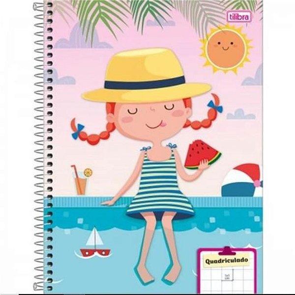 Caderno Esp Cd 96f Quadriculado Sapeca - Tilibra