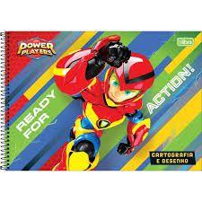 Caderno Esp Cd Cartografia 80f Power P - Tilibra