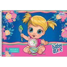 Caderno Esp Cd Cartografia 80f Baby Alive -tilibra