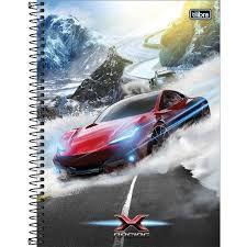 Caderno Esp Cd Univ 16m 256f X-racing - Tilibra