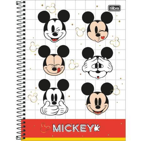 Caderno Esp Univ Cd 1m 80f Mickey - Tilibra