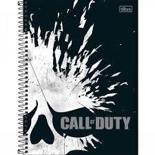 Caderno Esp Cd Univ 10m 160f Call Duty - Tilibra