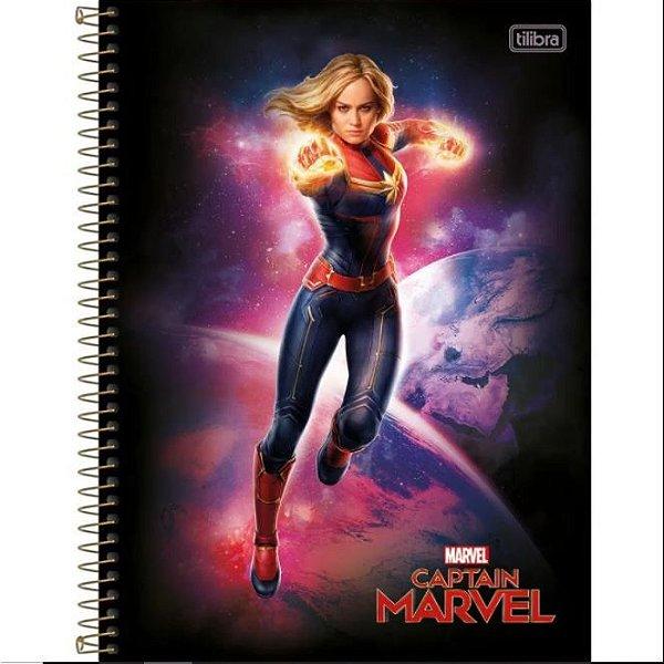 Caderno Esp Cd Univ 10m 160f Cap Marvel - Tilibra
