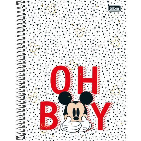 Caderno Esp Cd Univ 10m 160f Mickey - Tilibra