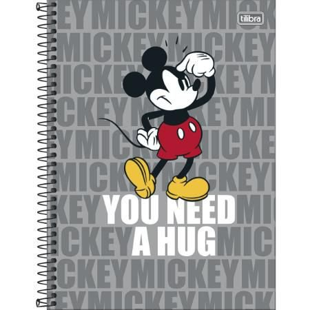 Caderno Esp Cd Univ 1m 80f Mickey Light - Tilibra