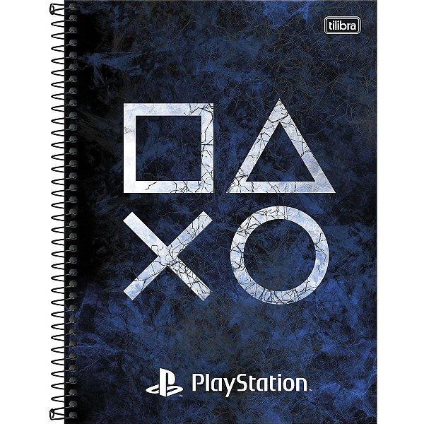 Caderno Esp Cd Univ 1m 80f Playstation - Tilibra