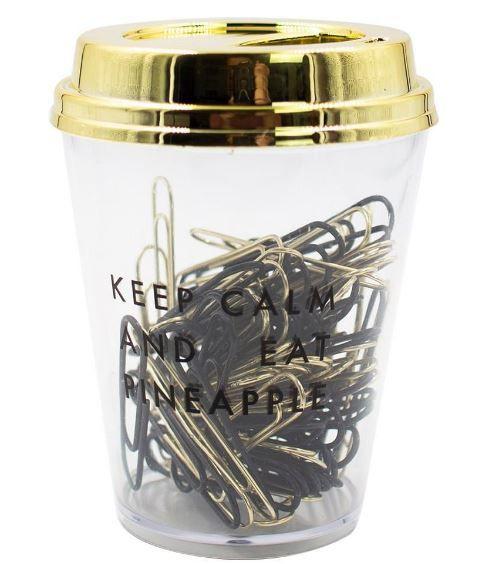 Cup Imantado C/clips 50mm C/80und Preto - Bee Uni