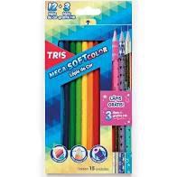 Lapis Cor 12 Cores + 3 Lapis Mega Soft Color -tris